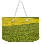 Yellow Rapeseed Growing Amongst Green Weekender Tote Bag