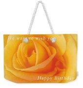 Yellow Rose Birthday Card Weekender Tote Bag