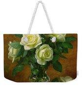 Yellow Roses Weekender Tote Bag by Albert Williams