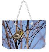 Yellow-rumped Warbler - Placid Weekender Tote Bag