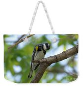 Yellow Rumped Warbler Looking Down Weekender Tote Bag