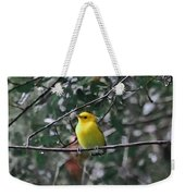Yellow Songbird Weekender Tote Bag