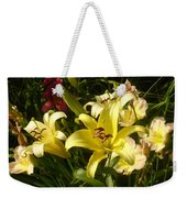 Yellow Splash Weekender Tote Bag