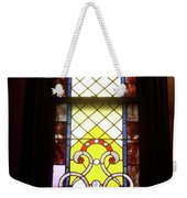 Yellow Stained Glass Window Weekender Tote Bag