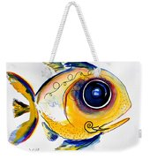 Yellow Study Fish Weekender Tote Bag by J Vincent Scarpace