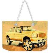 Yellow Suv Weekender Tote Bag