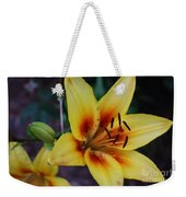 Yellow Tiger Lily Weekender Tote Bag