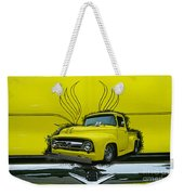 Yellow Truck In Truck Grill Weekender Tote Bag