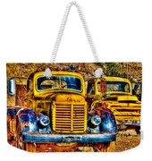 Yellow Trucks Weekender Tote Bag
