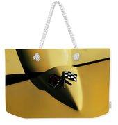 Yellow Vette Badge Weekender Tote Bag by Douglas Pittman