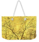 Yellow Wall Weekender Tote Bag