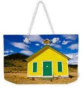 Yellow Western School House Weekender Tote Bag