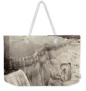 Yellowstone Park: Mammoth Weekender Tote Bag