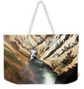 Yellowstone River Below Lower Falls Weekender Tote Bag