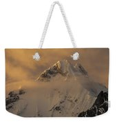Yerupaja Summit Ridge 6617m At Sunset Weekender Tote Bag