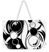 Yin And Yang Fish Design Weekender Tote Bag
