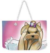 Yorkie Rapunzel Weekender Tote Bag