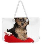Yorkipoo Pup Weekender Tote Bag