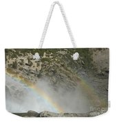 Yosemite Falls Rainbow Weekender Tote Bag