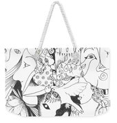 You And Me And The Seemingly Silent Weekender Tote Bag