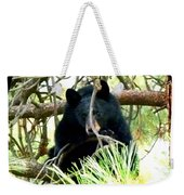 Young Black Bear Weekender Tote Bag