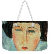 Young Brunette Weekender Tote Bag by Modigliani