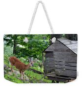 Young Buck At Treehouse Hopatcong Weekender Tote Bag