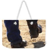 Young Cowboy With Spurs Weekender Tote Bag