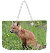 Young Fox Among The Dandelions Weekender Tote Bag