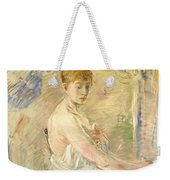 Young Girl Getting Up Weekender Tote Bag