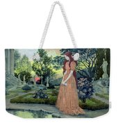 Young Girl In A Garden  Weekender Tote Bag