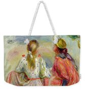 Young Girls On The Beach Weekender Tote Bag