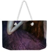 Young Lady Crying Weekender Tote Bag
