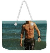 Young Man Walking Out Of The Water Weekender Tote Bag