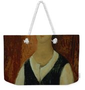 Young Man With A Black Waistcoat Weekender Tote Bag
