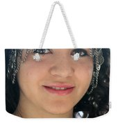 Young Palestinian In Traditional Dress In Bethlehem Weekender Tote Bag