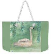 Young Swan Under Willow Tree Weekender Tote Bag