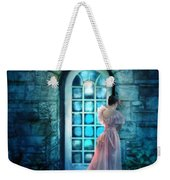 Young Woman Alone In Pink Gown  Weekender Tote Bag