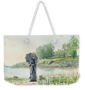 Young Woman Weekender Tote Bag by Winslow Homer