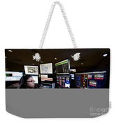 Young Woman Working In The Emergency Weekender Tote Bag
