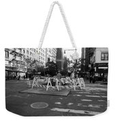 Your Tax Dollars At Work In Black And White Weekender Tote Bag