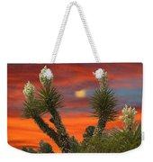Yucca Blooming Sunset-moonset Weekender Tote Bag