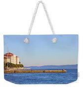 Zadar Pier On The Adriatic Sea Weekender Tote Bag