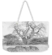 Zebra And Tree Weekender Tote Bag