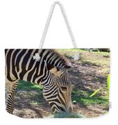 Zebra At Lunch Weekender Tote Bag