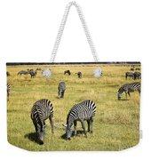 Zebra Grub Weekender Tote Bag