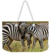 Zebra Hug Weekender Tote Bag