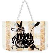 Zebra In Flight Weekender Tote Bag