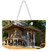 Zen Building In A Garden At A Sunny Morning Weekender Tote Bag