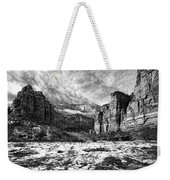 Zion Canyon - Bw Weekender Tote Bag
